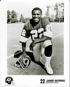 1991 Redskins Team Issue Photo Jamie Morris