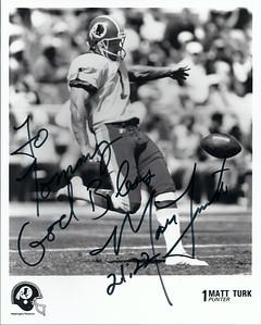 Matt Turk 1990s Redskins Team Issue