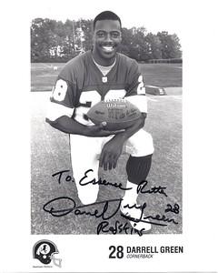 1990s Redskins Team Issue Photo Darrell Green