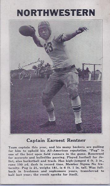 Pug Rentner 1932 Captains Card
