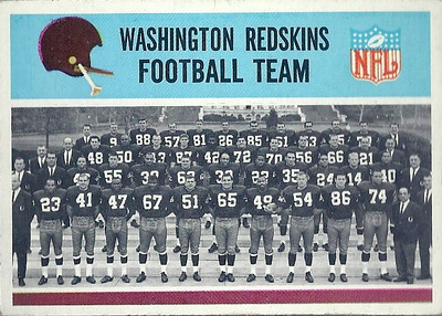 Redskins Team Card 1966 Philadelphia