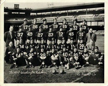 1939 Hecht's Redskins Team Photo