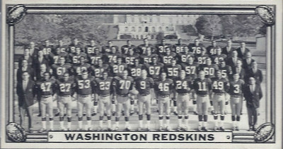 Redskins 1968 Topps Test Teams