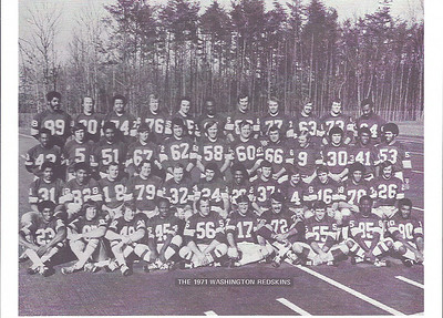 1971 Redskins Team Photo