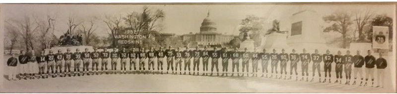 1952 Redskins Team Panorama Photo