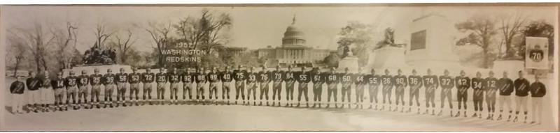 1952 Redskins Team Panorama Photo
