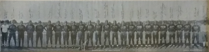 1937 Redskins Team Panorama Photo