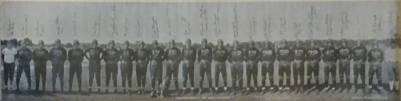 1937 Redskins Team Panorama Photo