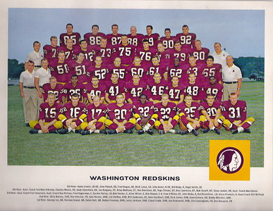 1962 Tang Team Photo Redskins