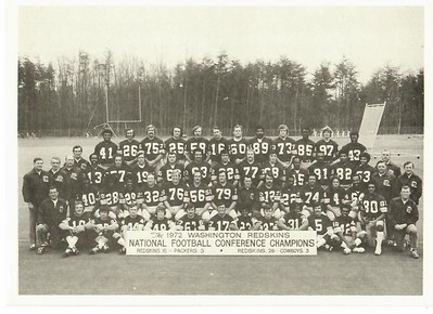 1972 Redskins Team issue Team Photo