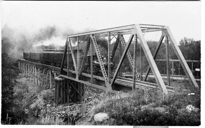 North Rdwd train and trestle from w
