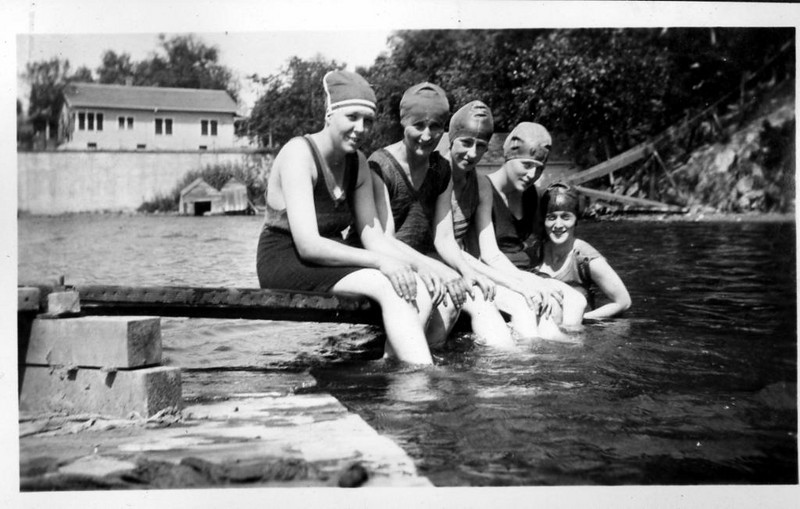 swimming beach 1920 girls