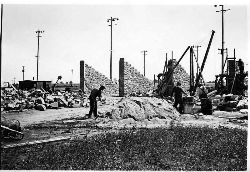 Building Memorial Stadium 1938