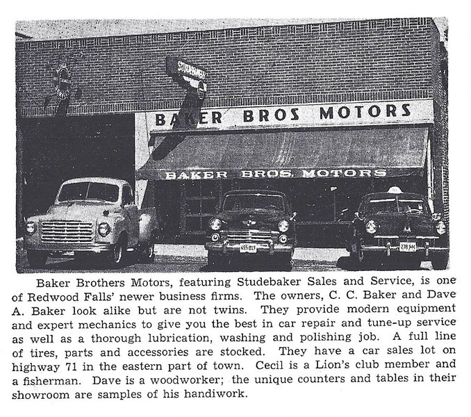 Baker Bros 194X - The two cars in the photo above were owned by Lao and Garnold Stancer, which they used for their Taxi Cab service in the late 1940s and perhaps early 1950s.  The Stance brothers, I believe, are also pictured in the first photo.  - Roger Breckenridge