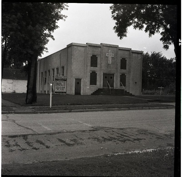 Assembly of God Church on 5th st. across the street to the south of Lincoln school.