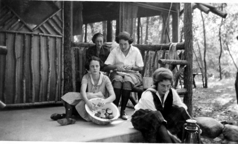Girl Scout Cabin Porch 1921