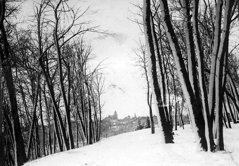 City from High Drive in Ramsey in Winter 1920