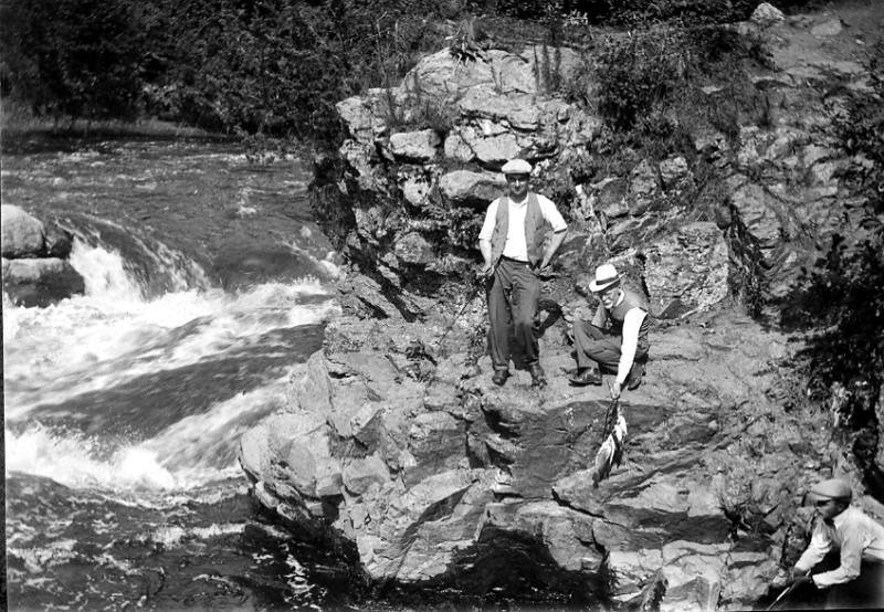 Fishing on the Redwood River by Little Falls 1915