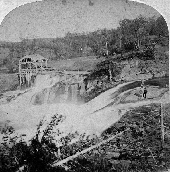 stereo view of saw mill