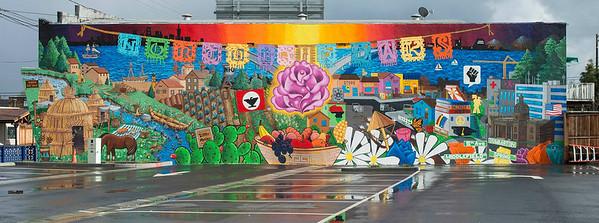 North Fair Oaks Community Mural by Art Koch and Jose Castro,