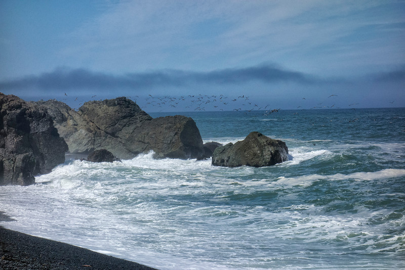 Black Sands Beach, Shelter Cove/Lost Coast, Humboldt County, Redwood Coast, California