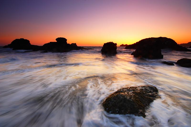Vibrant Dusk Harris Beach State Park Oregon