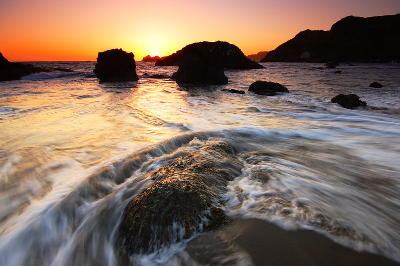 Crashing Waves at Sunset Harris Beach State Park Oregon