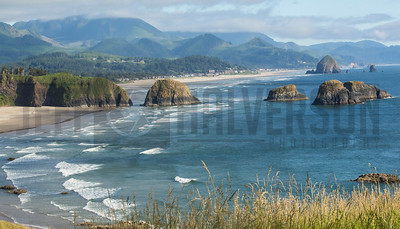 Ecola State Park on Oregon's Pacific Coast with Haystack Rock