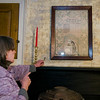 Jeannie Bartovics, Site Administrator of the Reed Homestead in Townsend, shows off aspects of the historical home built in 1809.  SENTINEL & ENTERPRISE / Ashley Green