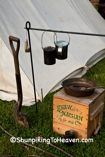 Breakfast Cleanup at Civil War Camp, Springfield, Illinois