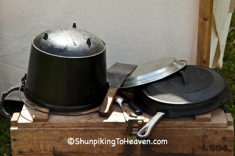 Civil War Camp Cookware, Springfield, Illinois