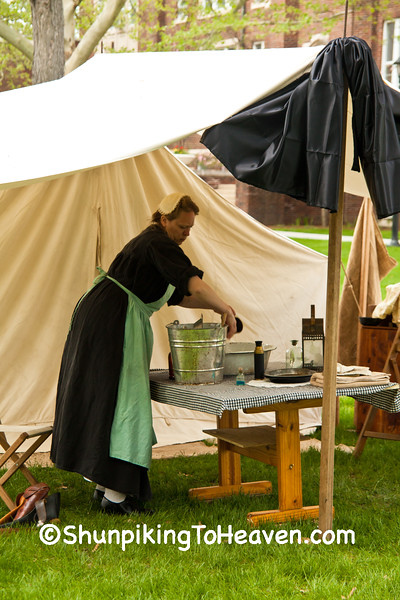 Civil War Camp Tent Draped in Mourning Crepe, Springfield, Illinois