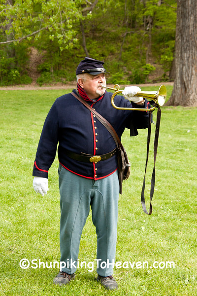 Civil War Camp Bugler, Springfield, Illinois