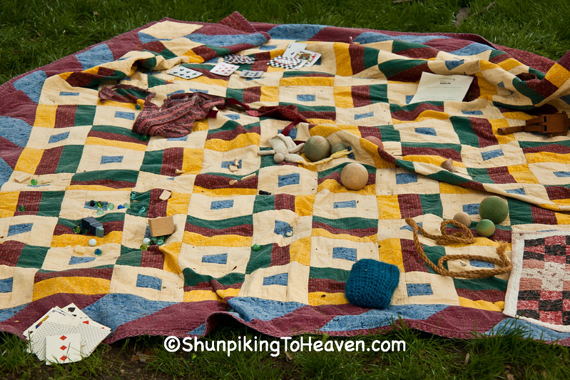 Old Fashioned Toys and Quilt, Civil War Camp Reenactment, Springfield, Illinois