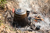 Campfire Coffee Pot, Civil War Camp Reenactment, Springfield, Illinois