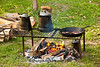 Campfire Breakfast, Civil War Camp Reenactment, Springfield, Illinois