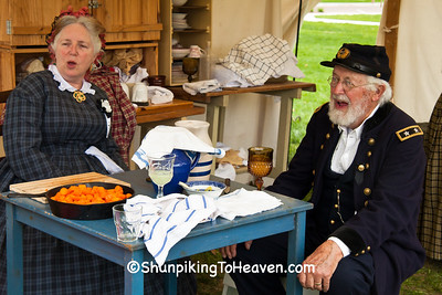 Civil War Camp Reenactors, Springfield, Illinois