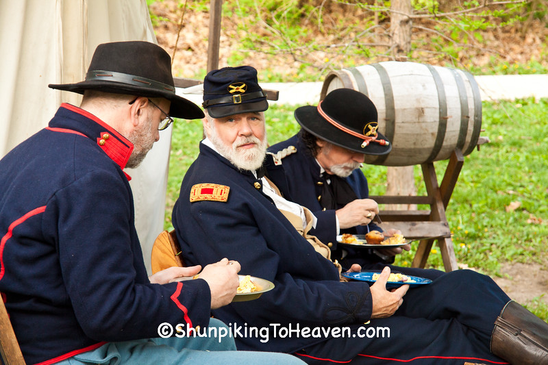 Breakfast at Civil War Camp, Springfield, Illinois
