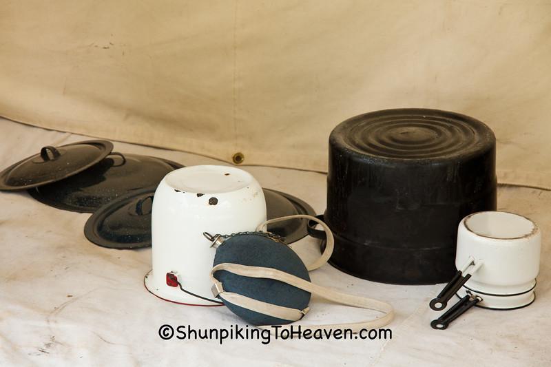 Pots and Pans, Civil War Camp Reenactment, Springfield, Illinois