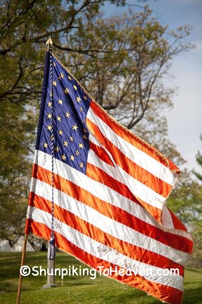 US Flag at Civil War Camp Reenactment, Springfield, Illinois