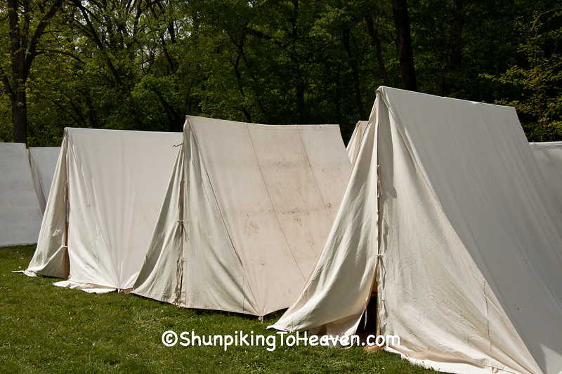 Tents at Civil War Camp Reenactment, Springfield, Illinois