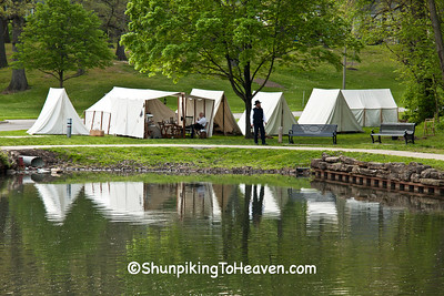 Civil War Camp, Lincoln Park, Springfield, Illinois
