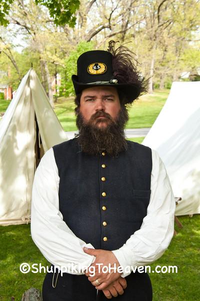 Union Officer, Civil War Camp Reenactment, Springfield, Illinois