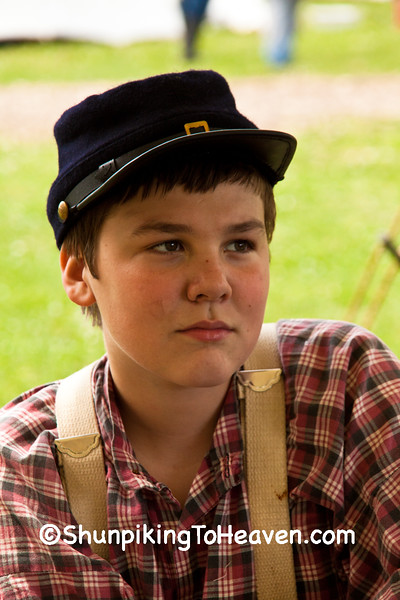 Soldier Boy, Civil War Camp Reenactor, Springfield, Illinois