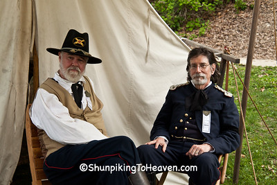 Union Officers, Civil War Camp Reenactment, Springfield, Illinois