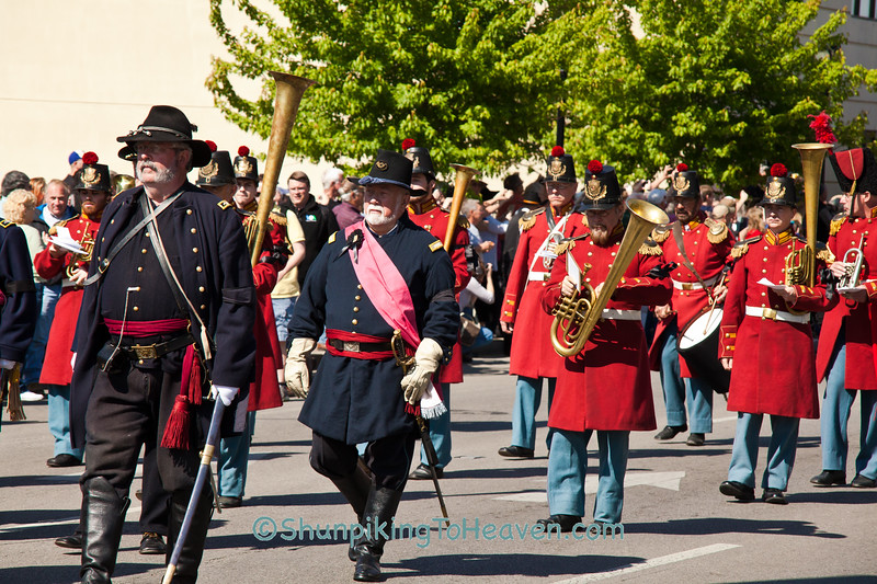 Civil War Officer Reenactors and President Lincoln's Own Band, Springfield, Illinois