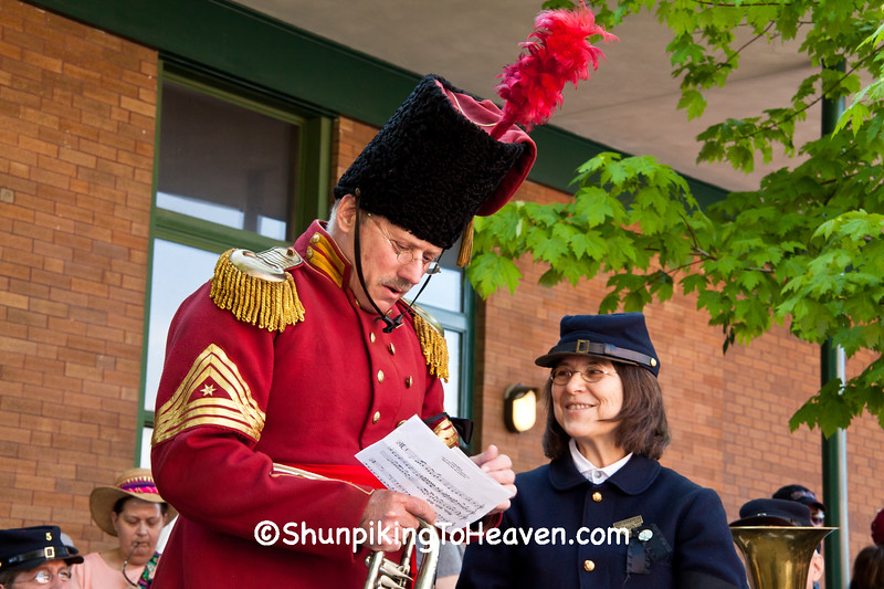The Seargent Major of President Lincoln's Own Band with Member of 5th Michigan Regiment Band, Springfield, Illinois