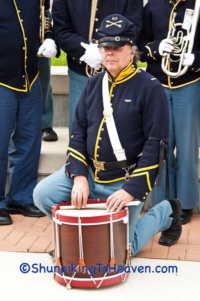 Drummer of 10th Illinois Volunteer Cavalry Regiment Band, Springfield, Illinois