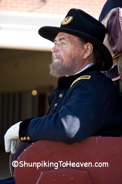Reenactor in Lincoln Funeral Procession, Springfield, Illinois