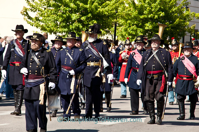 Civil War Officer Reenactors, Springfield, Illinois